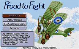 In game image of Knights of the Sky on the Atari ST.