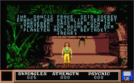 In game image of Kristal on the Atari ST.