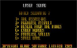 In game image of Laser Squad on the Atari ST.