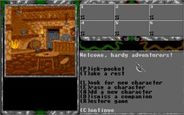 In game image of Legend of Faerghail on the Atari ST.
