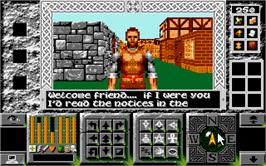 In game image of Legends of Valour on the Atari ST.