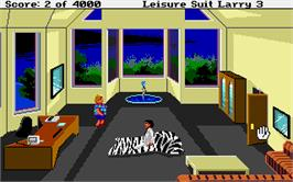 In game image of Leisure Suit Larry 3: Passionate Patti in Pursuit of the Pulsating Pectorals on the Atari ST.