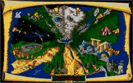 In game image of Lemmings 2: The Tribes on the Atari ST.