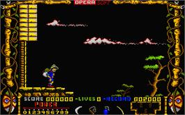 In game image of Livingstone Supongo 2 on the Atari ST.