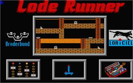 In game image of Lode Runner on the Atari ST.