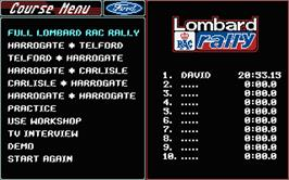 In game image of Lombard RAC Rally on the Atari ST.