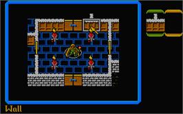 In game image of Lords of Chaos on the Atari ST.
