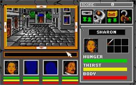In game image of Lords of Doom on the Atari ST.