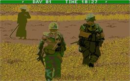 In game image of Lost Dutchman Mine on the Atari ST.