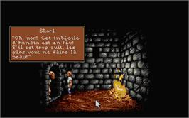 In game image of Lure of the Temptress on the Atari ST.