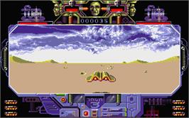 In game image of Mach 3 on the Atari ST.