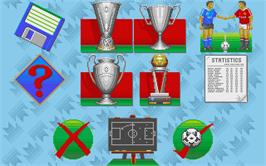 In game image of Manchester United Europe on the Atari ST.