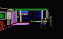 In game image of Manhunter: New York on the Atari ST.
