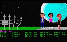 In game image of Maniac Mansion on the Atari ST.