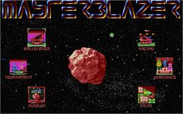 In game image of Master Blazer on the Atari ST.