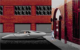 In game image of Mean Streets on the Atari ST.