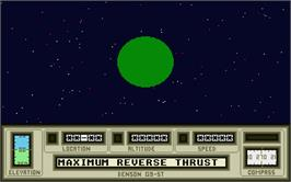 In game image of Mercenary: Escape From Targ with the Second City on the Atari ST.