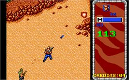 In game image of Mercs on the Atari ST.