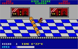 In game image of Metro-Cross on the Atari ST.