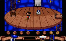 In game image of Mickey Mouse: The Computer Game on the Atari ST.