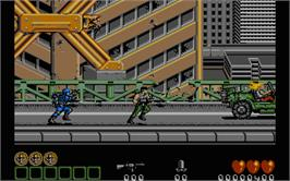 In game image of Midnight Resistance on the Atari ST.