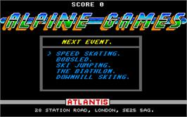 In game image of Mind Games on the Atari ST.