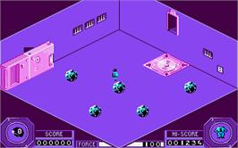 In game image of Mission on the Atari ST.
