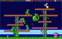 In game image of Monster Business on the Atari ST.