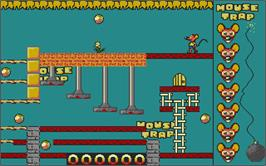 In game image of Mouse Trap on the Atari ST.