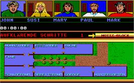 In game image of Murder on the Atari ST.