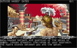 In game image of Myth on the Atari ST.