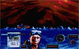 In game image of Navy Moves on the Atari ST.