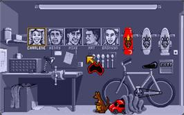 In game image of Neighbours on the Atari ST.