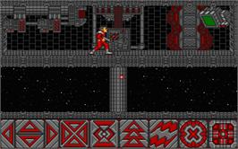 In game image of Obliterator on the Atari ST.