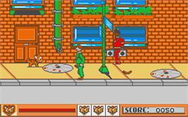 In game image of Oliver & Company on the Atari ST.