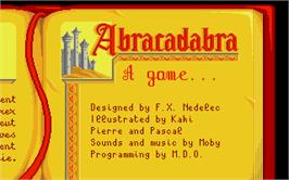 In game image of Once Upon A Time: Abracadabra on the Atari ST.