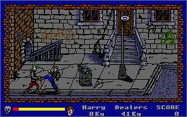 In game image of Operation: Cleanstreets on the Atari ST.