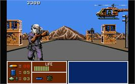 In game image of Operation Thunderbolt on the Atari ST.