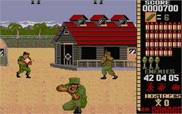 In game image of Operation Wolf on the Atari ST.