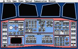 In game image of Orbiter on the Atari ST.