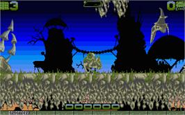 In game image of Ork on the Atari ST.