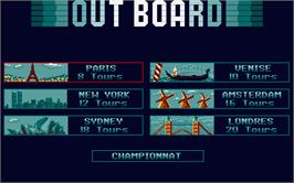 In game image of Out Board on the Atari ST.