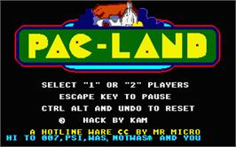 In game image of Pac-Land on the Atari ST.