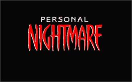 In game image of Personal Nightmare on the Atari ST.