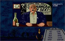 In game image of Plan 9 From Outer Space on the Atari ST.