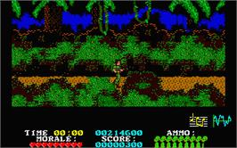 In game image of Platoon on the Atari ST.