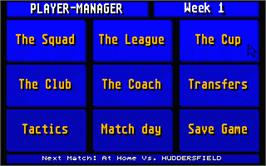 In game image of Player Manager on the Atari ST.