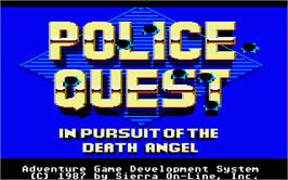 In game image of Police Quest: In Pursuit of the Death Angel on the Atari ST.