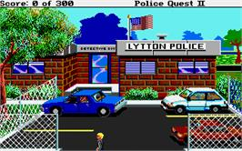In game image of Police Quest 2: The Vengeance on the Atari ST.