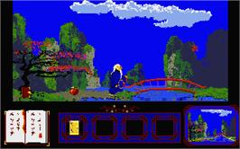 In game image of Postman Pat on the Atari ST.